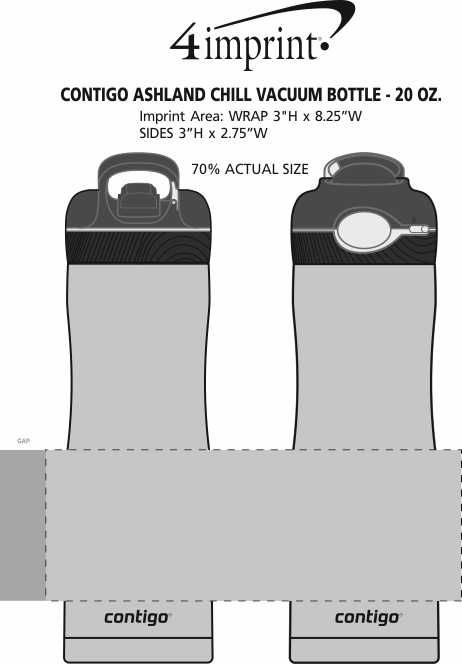 Imprint Area of Contigo Ashland Chill Vacuum Bottle - 20 oz.