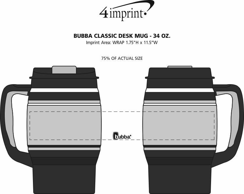 Imprint Area of bubba Classic Desk Mug - 34 oz.