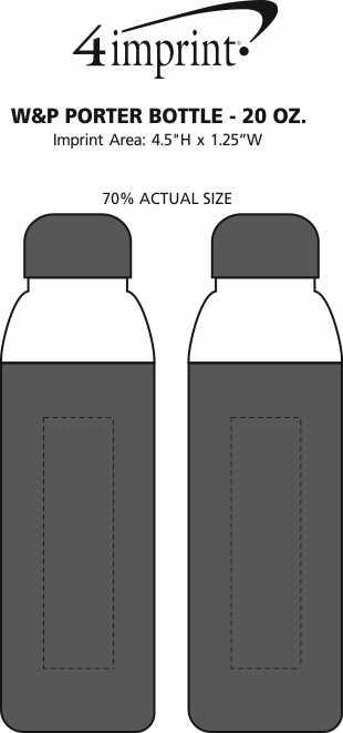 Imprint Area of W&P Porter Bottle - 20 oz.