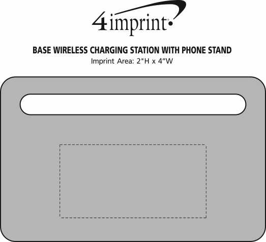 Imprint Area of Base Wireless Charging Station with Phone Stand