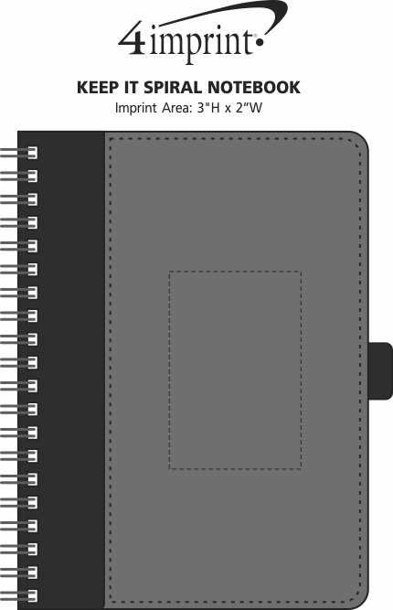 Imprint Area of Keep It Spiral Notebook