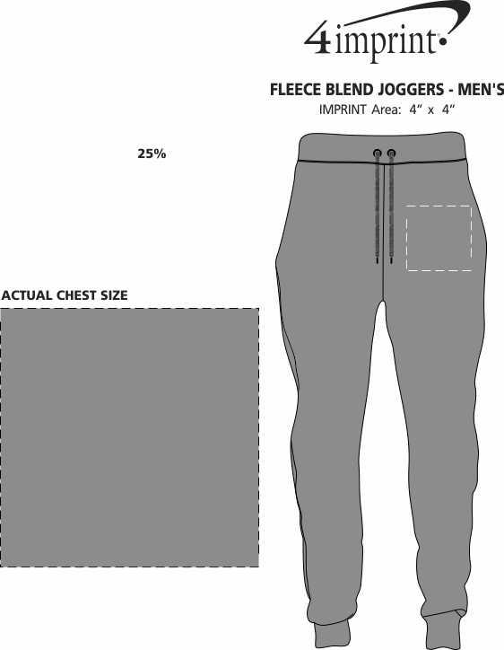 Imprint Area of Fleece Blend Joggers - Men's