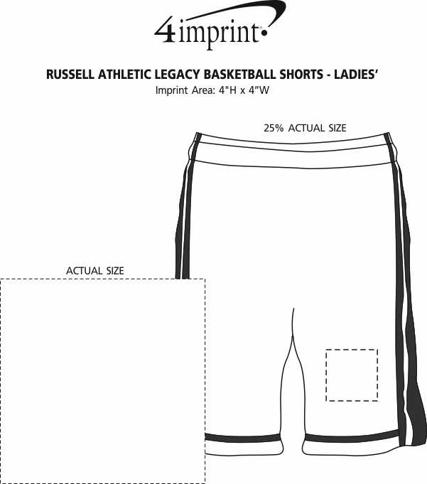 Imprint Area of Russell Athletic Legacy Basketball Shorts - Ladies'