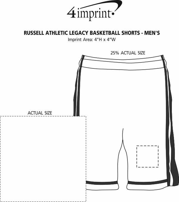 Imprint Area of Russell Athletic Legacy Basketball Shorts - Men's