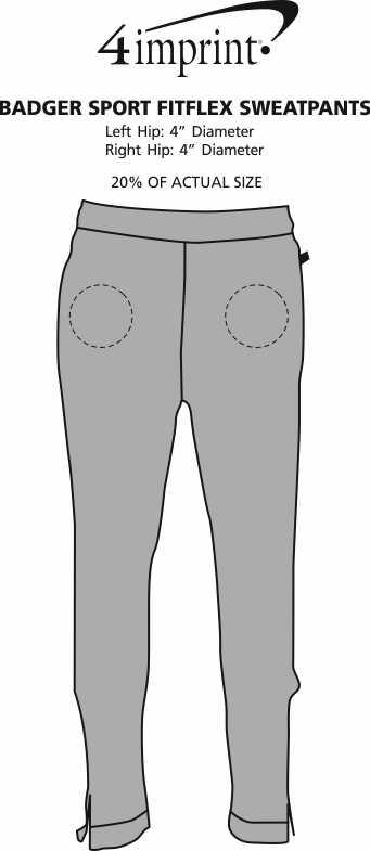 Imprint Area of Badger Sport FitFlex Sweatpants