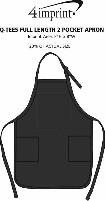 Imprint Area of Q-Tees Full Length 2 Pocket Apron