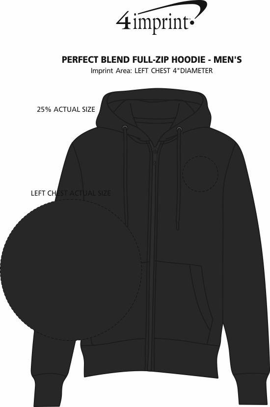 Imprint Area of Perfect Blend Full-Zip Hoodie - Men's