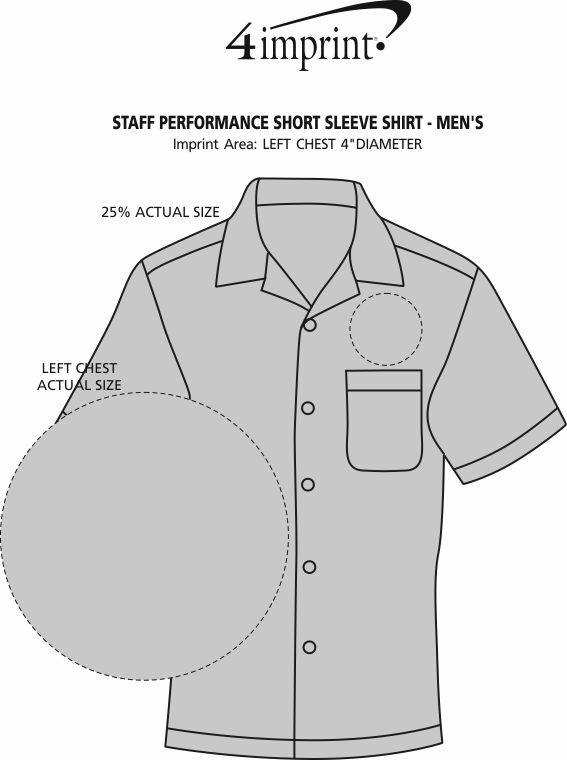 Imprint Area of Staff Performance Short Sleeve Shirt - Men's