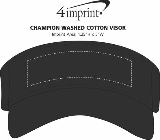 Imprint Area of Champion Washed Cotton Visor