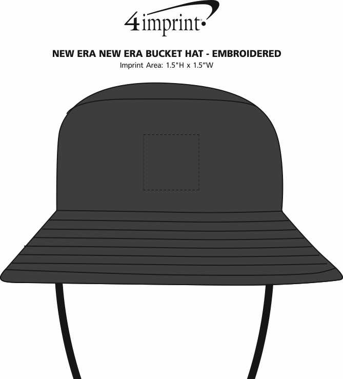 Imprint Area of New Era Bucket Hat - Embroidered