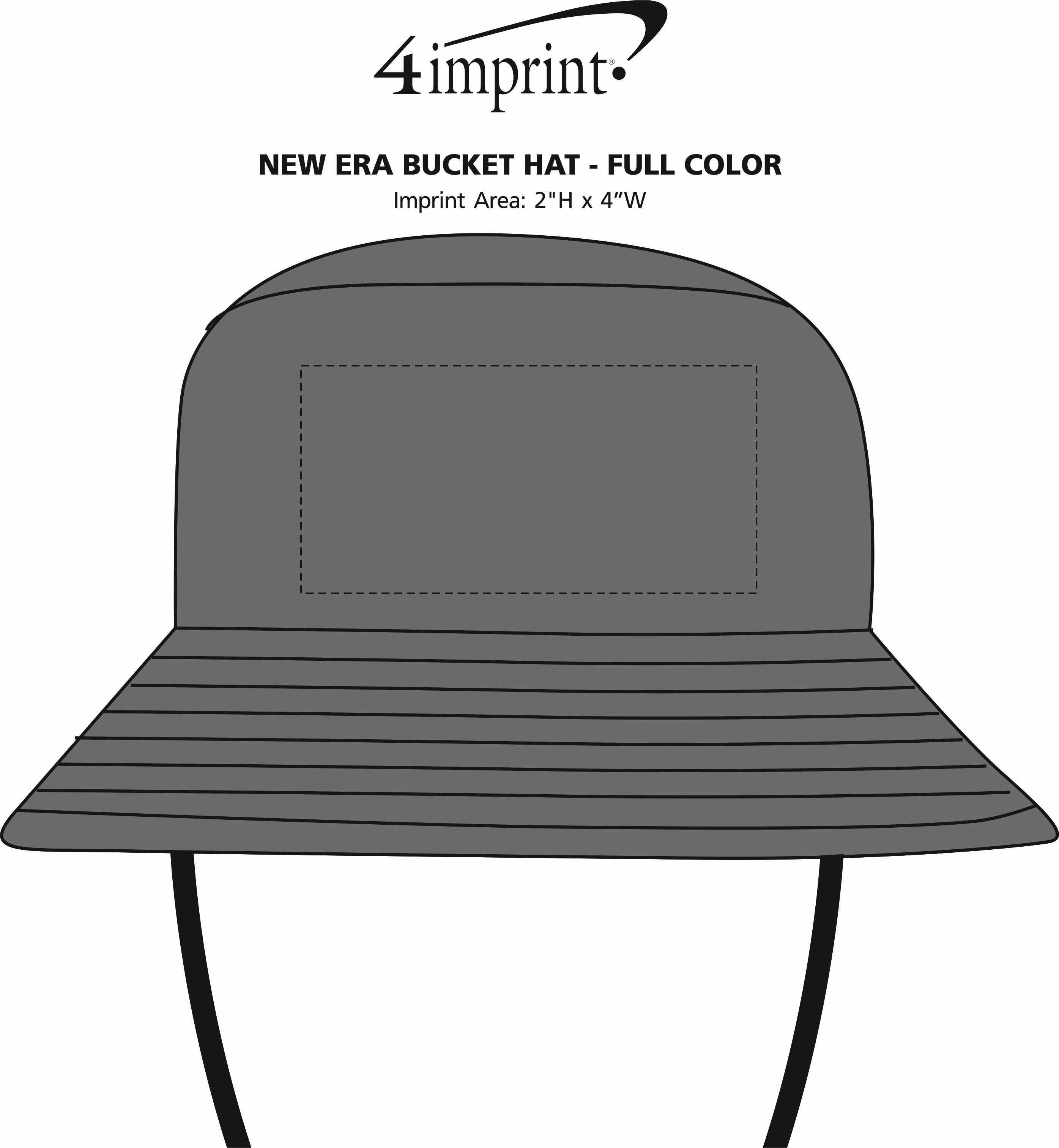 Imprint Area of New Era Bucket Hat - Full Color