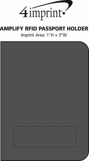 Imprint Area of Amplify RFID Passport Holder