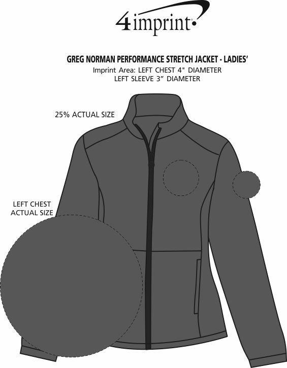 Imprint Area of Greg Norman Performance Stretch Jacket - Ladies'