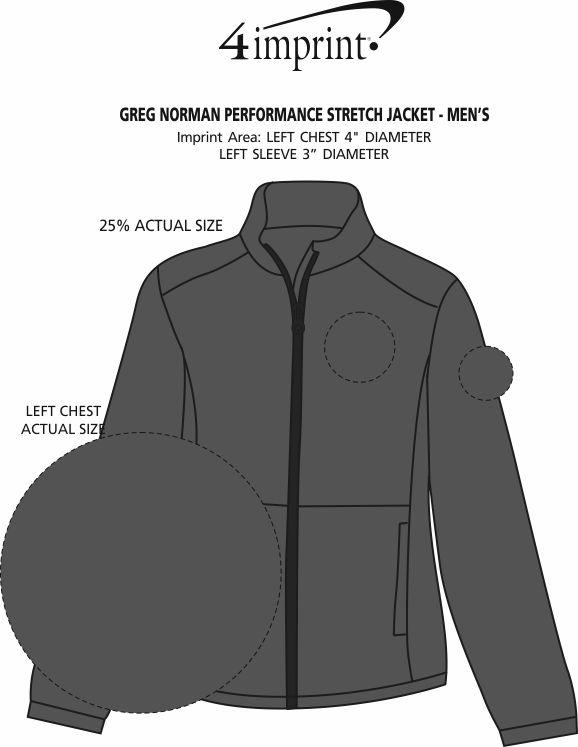 Imprint Area of Greg Norman Performance Stretch Jacket - Men's