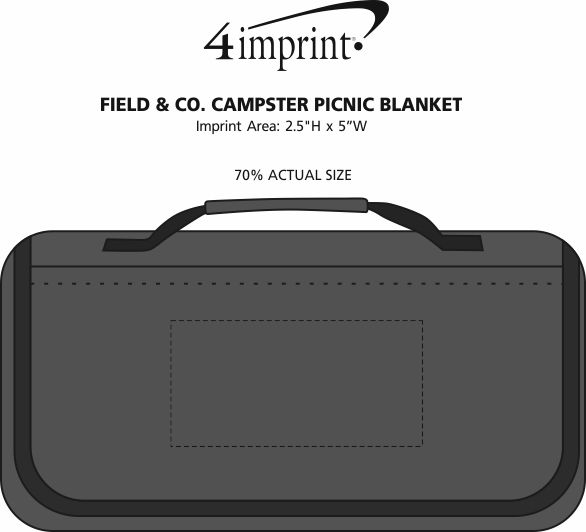 Imprint Area of Field & Co. Campster Picnic Blanket