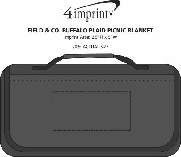 Imprint Area of Field & Co. Buffalo Plaid Picnic Blanket