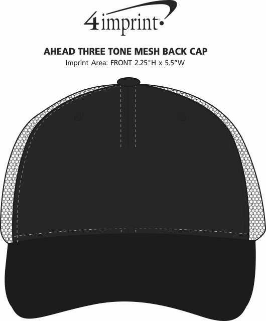 Imprint Area of AHEAD Three Tone Mesh Back Cap