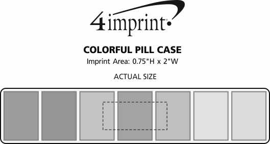 Imprint Area of Colorful Pill Case