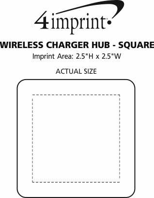 Imprint Area of Wireless Charger Hub - Square