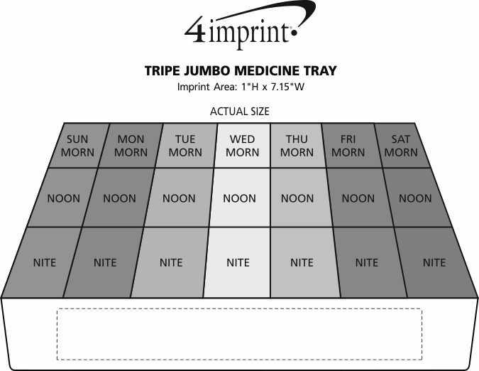 Imprint Area of Triple Jumbo Medicine Tray