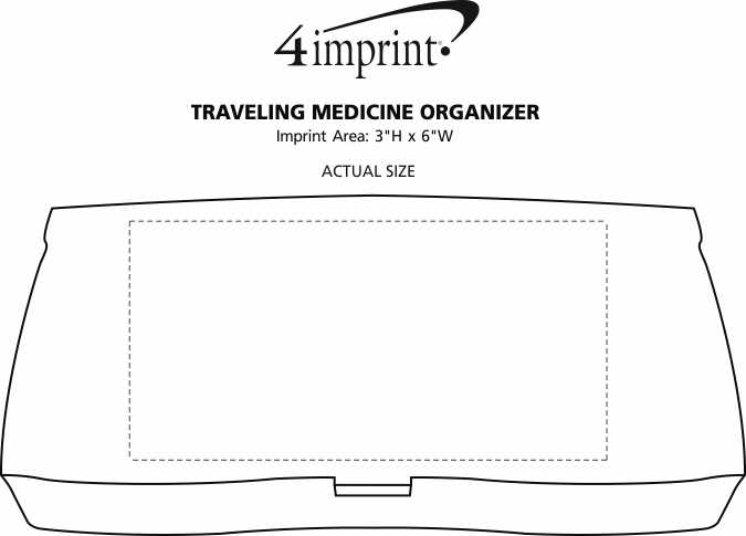 Imprint Area of Traveling Medicine Organizer