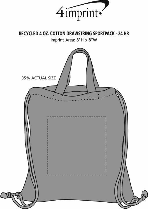 Imprint Area of Murphy Drawstring Sportpack - 24 hr