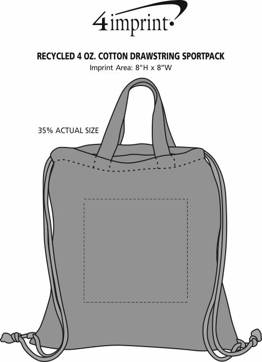 Imprint Area of Murphy Drawstring Sportpack