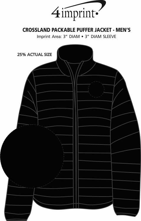 Imprint Area of Crossland Packable Puffer Jacket - Men's