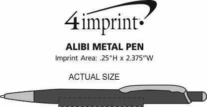 Imprint Area of Alibi Metal Pen