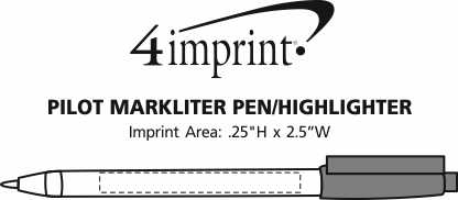 Imprint Area of Pilot Markliter Pen/Highlighter