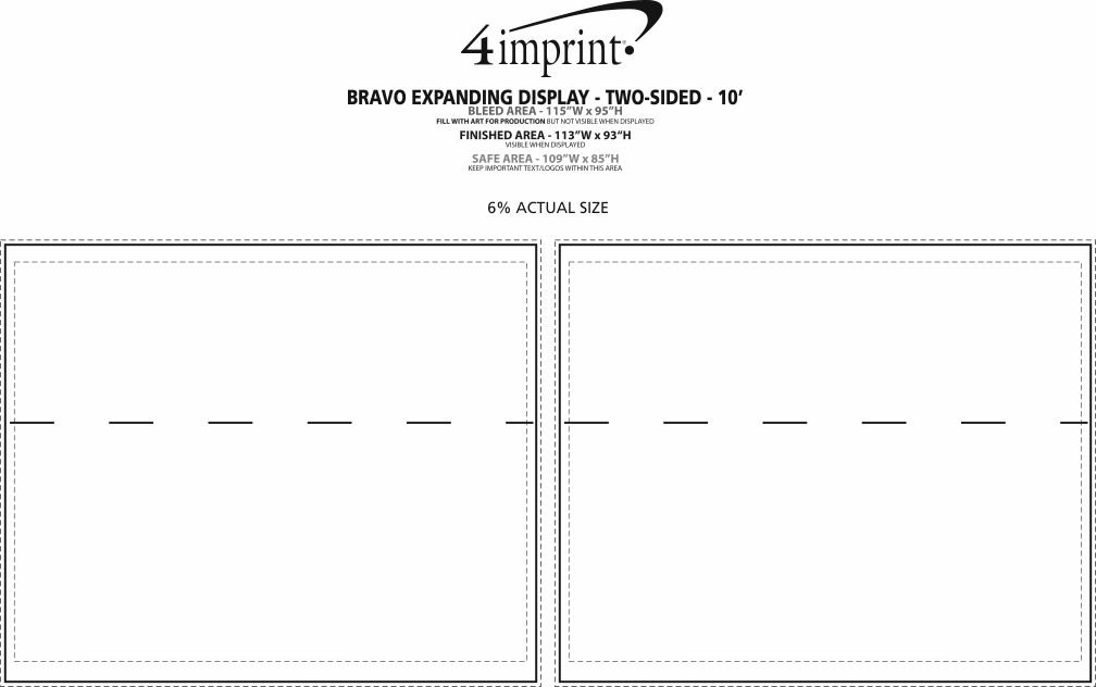Imprint Area of Bravo Expanding Display - Two-Sided - 10'