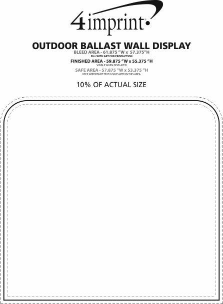 Imprint Area of Outdoor Ballast Wall Display