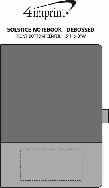 Imprint Area of Solstice Notebook - Debossed