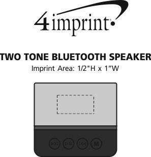 Imprint Area of Two Tone Bluetooth Speaker