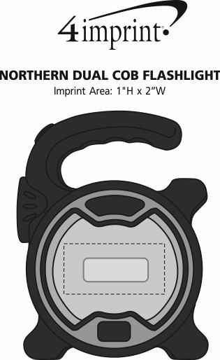 Imprint Area of Parker Dual COB Flashlight