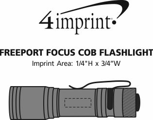 Imprint Area of Freeport Focus COB Flashlight