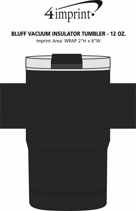Imprint Area of Bluff Vacuum Insulator Tumbler - 12 oz.
