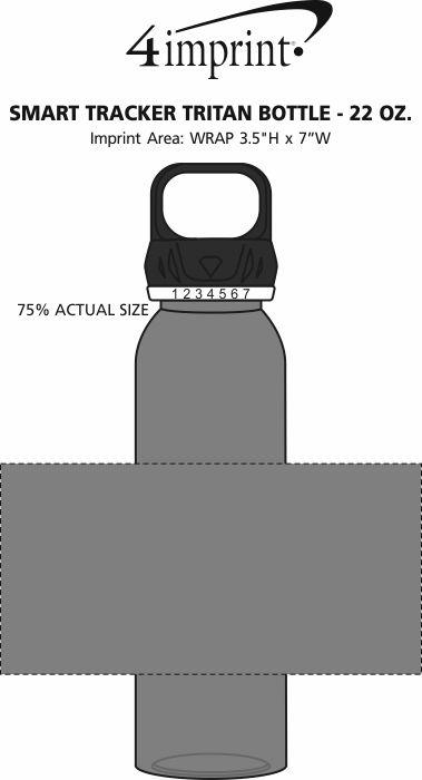 Imprint Area of Smart Tracker Tritan Bottle - 22 oz.