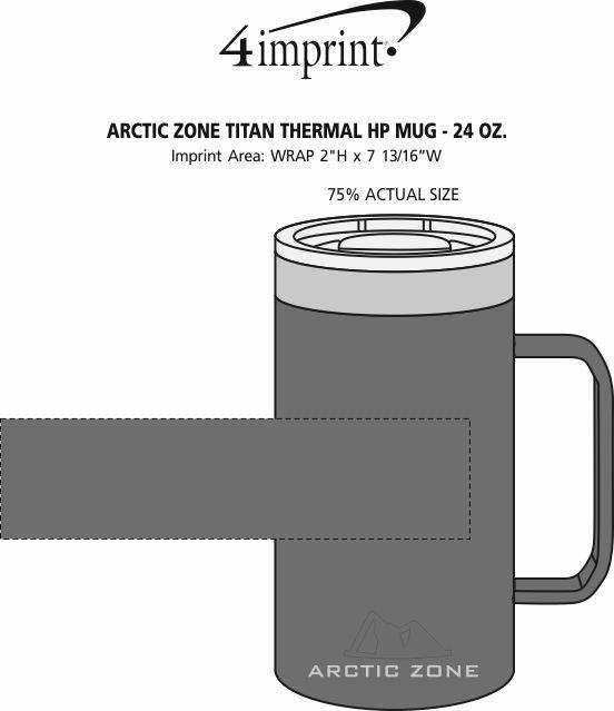 Imprint Area of Arctic Zone Titan Thermal HP Mug - 24 oz.
