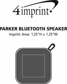 Imprint Area of Parker Bluetooth Speaker