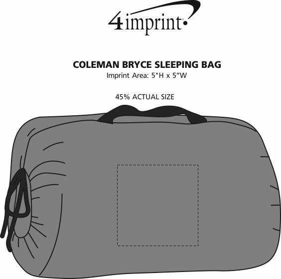 Imprint Area of Coleman Bryce Sleeping Bag