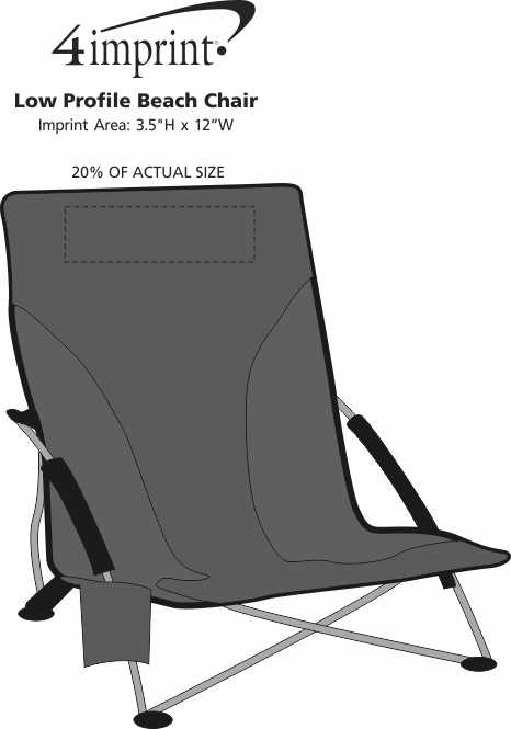 Imprint Area of Low Profile Beach Chair