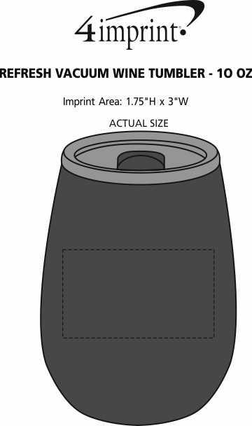 Imprint Area of Refresh Vacuum Wine Tumbler - 10 oz.