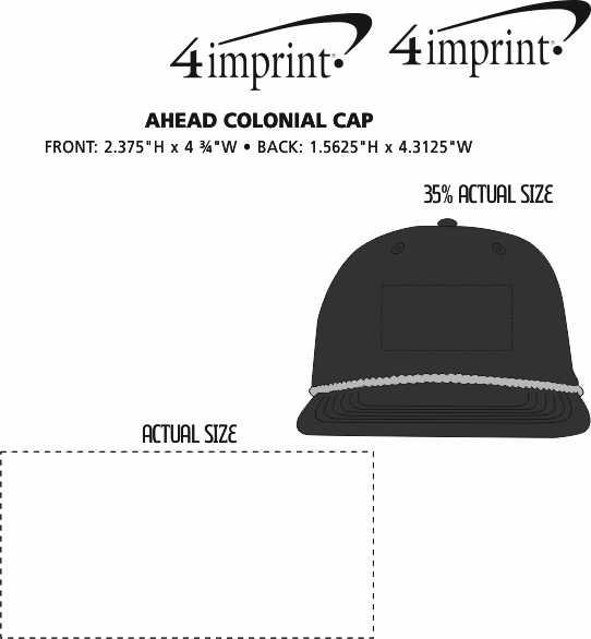 Imprint Area of AHEAD Colonial Cap
