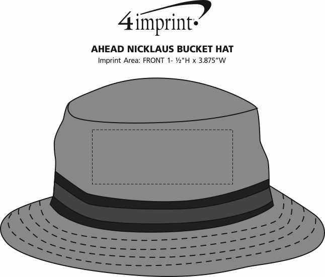 Imprint Area of AHEAD Nicklaus Bucket Hat