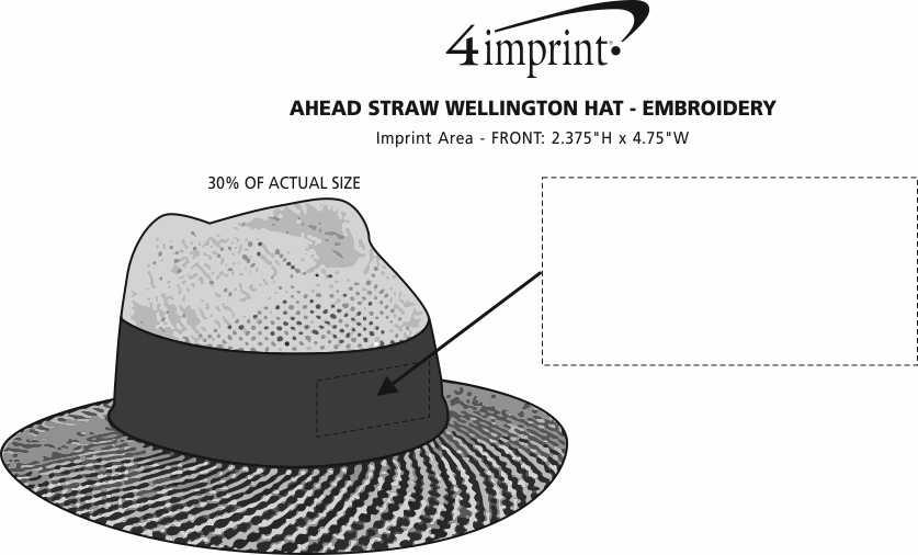 Imprint Area of AHEAD Straw Wellington Hat