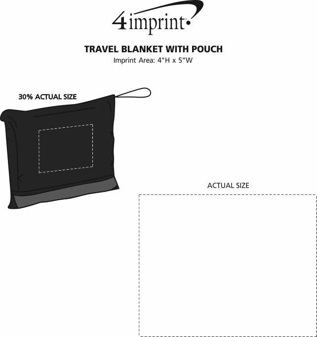 Imprint Area of Travel Blanket with Pouch