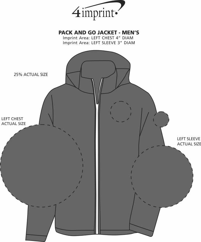 Imprint Area of Pack and Go Jacket - Men's