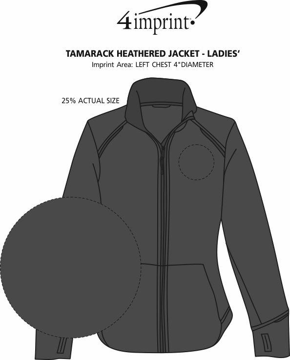 Imprint Area of Tamarack Heathered Jacket - Ladies'
