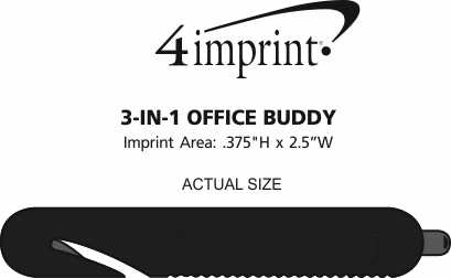 Imprint Area of 3-in-1 Office Buddy